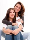Moder och tonåring Royaltyfri Bild