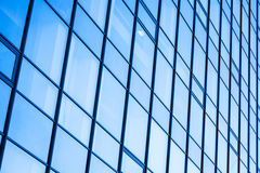 Moder office facade with blue glass Royalty Free Stock Photography