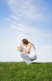 moder s för 2 förälskelse Fotografering för Bildbyråer