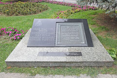 Moder Theresa Memorial Plaque Arkivfoton