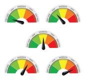 Moderado do ponto baixo da temperatura alto ilustração do vetor
