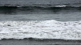 Moderate Waves Northern California Overcast stock footage
