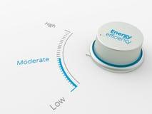 Moderatelevel d'exposition de bouton pour le businesse Image libre de droits