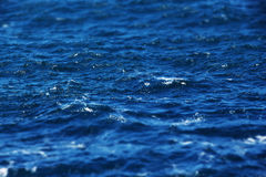 Moderately rough sea, miniature style Royalty Free Stock Images