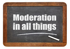Moderation in all things Stock Images
