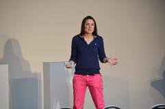 Moderatorin Julia Bauer Stock Photos