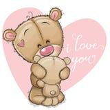 Moderbjörnen kramar för att behandla som ett barn björnen stock illustrationer