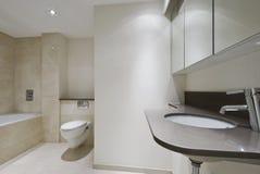 moderiktig badrum fotografering för bildbyråer
