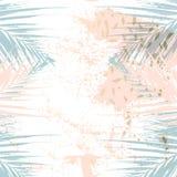 Moderiktig chic pastell färgade kortet med guld- geometriska former royaltyfri illustrationer