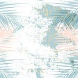 Moderiktig chic pastell färgade kortet med guld- geometriska former stock illustrationer