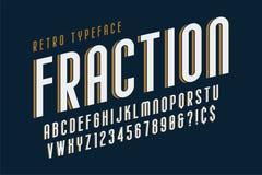Moderiktig design för tappningskärmstilsort, alfabet, stilsort stock illustrationer