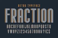 Moderiktig design för tappningskärmstilsort, alfabet, stilsort vektor illustrationer