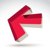 moderiktig färgrik bakåtriktad pil för ingrepp 3d Arkivfoto