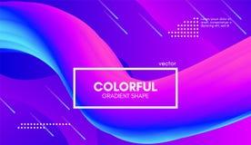 Moderiktig färgrik bakgrund 3d Våg fluid Shape vektor illustrationer