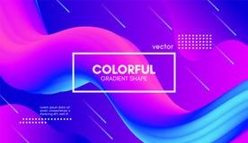 Moderiktig färgrik bakgrund 3d Våg fluid Shape stock illustrationer