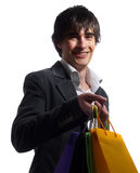 moderiktig köpande kläder Arkivfoto