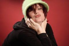 moderiktig kyss Royaltyfri Fotografi