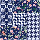 Moderiktig patchworkdesign vektor illustrationer