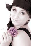 moderiktig rose tonåring Royaltyfri Foto