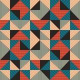 Moderiktig sömlös bakgrund för Hipster med geometriska memphis för triangel färger royaltyfri illustrationer