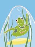 moderiktig sköldpadda stock illustrationer