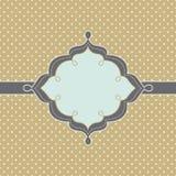 Moderiktig tappning utformat emblem Vektor Illustrationer