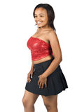 Moderiktig ung svart kvinna royaltyfri foto