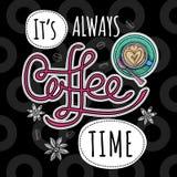 Moderiktig vektor för kaffe royaltyfri illustrationer
