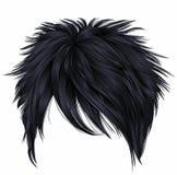 Moderiktiga färger för svart för brunett för korta hår för kvinna Sexig BlondLuxury kvinnastående Royaltyfri Bild