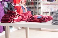 Moderiktiga kläder shoppar Arkivfoto