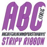 Moderiktiga moderna uppercase alfabetbokstäver för vektor, abc-samling Arkivbilder