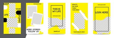 Moderiktiga redigerbara mallar för den svarta fredag försäljningen, gåva, vektorillustration Designbakgrunder för socialt massmed royaltyfri illustrationer