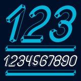 Moderiktiga tappningvektorsiffror, talsamling Retro kursiva nummer från 0 till 9 kan användas i konstaffischskapelse gjort med vektor illustrationer