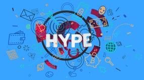 Moderiktigt kort för Hype Royaltyfri Foto