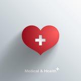 Moderiktigt medicinskt symbol Arkivbild