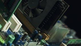 moderkort för maskinvara för datorcoolerCPU Moderkort med videokortet, solitt kort stock video