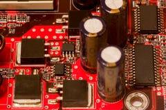 Moderkort för röd färg för dator Royaltyfri Bild