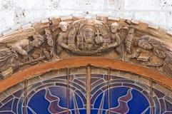 Moderkyrka av Noci. Puglia. Italien. Arkivbilder
