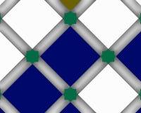 Moderm Arabski dekoracyjny skład z błękitnymi squaresashion wektorami Zdjęcie Royalty Free
