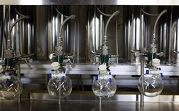 Moderm chemistry lab. Scintific chemistry equipment in modern lab Stock Images