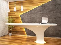 Moderm reception in the office. Moderm white reception in the office royalty free illustration