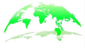 Modern översikt 3D av världen i Emerald Color med skugga royaltyfri illustrationer