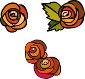 Modern_25. Vegetative element of design. Flower ornament Stock Images