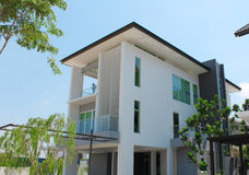 Modern 3-storey bungalow design. In Malaysia stock photography