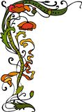 Modern_30. Vegetative element of design. Flower ornament Royalty Free Stock Photos