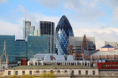 The modern 30 St Mary Axe Royalty Free Stock Photography