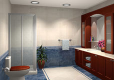 Modern 3D bathroom Stock Photos