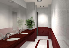 Modern 3D bathroom Royalty Free Stock Images