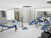 Modern 3D Fitness Room Royalty Free Stock Photos