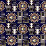 Modern 3d Greek Seamless Pattern. Vector Patterned Geometric Bac Royalty Free Stock Images